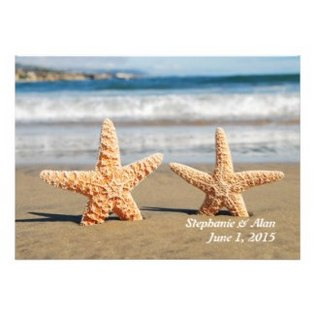 starfish couple on the beach wedding invitation- 325-315