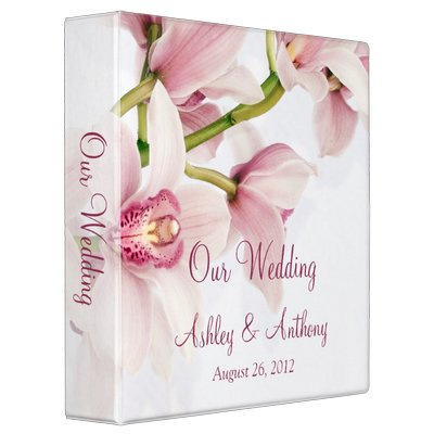 Pink-Cymbidium-Orchid-Floral-Wedding-Binder